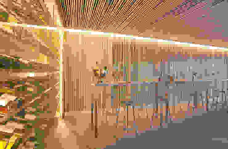 GASTRO WINE BAR <q> PAN TA LAN </q> PTO POLLENÇA Edificios de oficinas de estilo moderno de felip polar Moderno