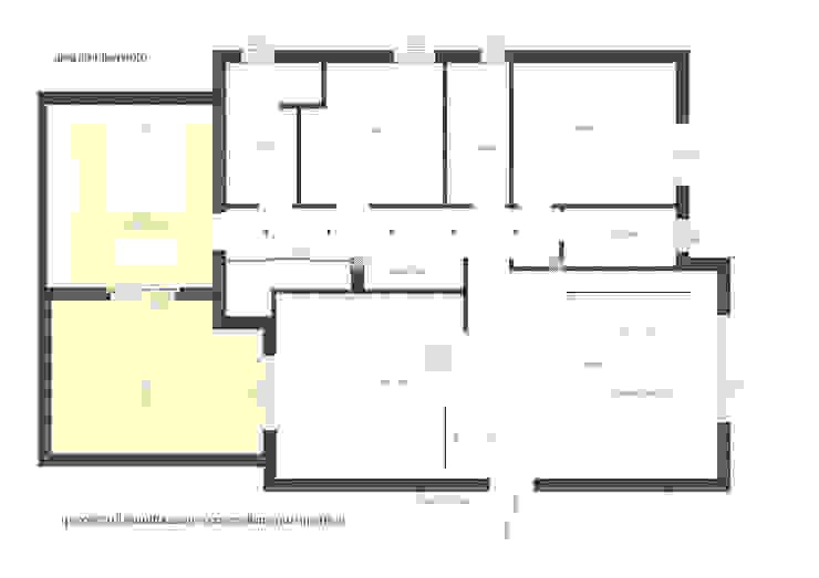 planimetria del progetto di ristrutturazione di Laura Canonico Architetto