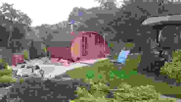 Sauna ogrodowa Lifepolska Iwona Olejnik Klasyczny ogród