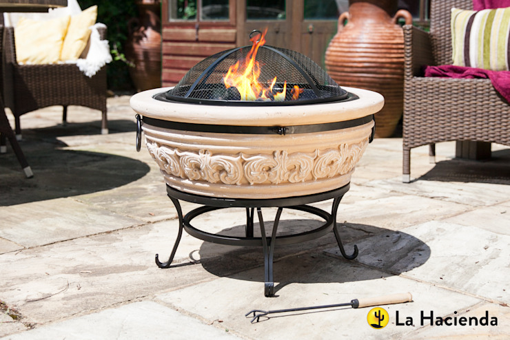 Carved Scroll small La Hacienda Garden Fire pits & barbecues
