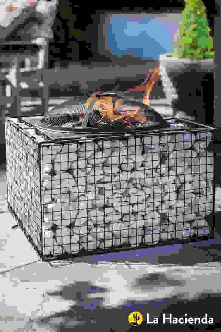 Square pebble mesh with grill La Hacienda Сад Грильницы