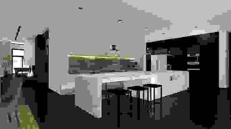 Дом в Москве, 600 кв.м Кухня в стиле минимализм от Валерия Лазарева - архитектор, дизайнер интерьера Минимализм