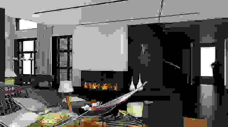 Дом в Москве, 600 кв.м Гостиная в стиле минимализм от Валерия Лазарева - архитектор, дизайнер интерьера Минимализм