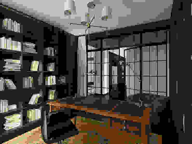 Дом в Москве, 600 кв.м Рабочий кабинет в классическом стиле от Валерия Лазарева - архитектор, дизайнер интерьера Классический