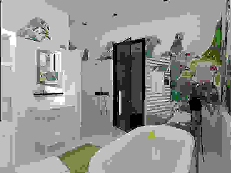 Дом в Москве, 600 кв.м Ванная комната в эклектичном стиле от Валерия Лазарева - архитектор, дизайнер интерьера Эклектичный