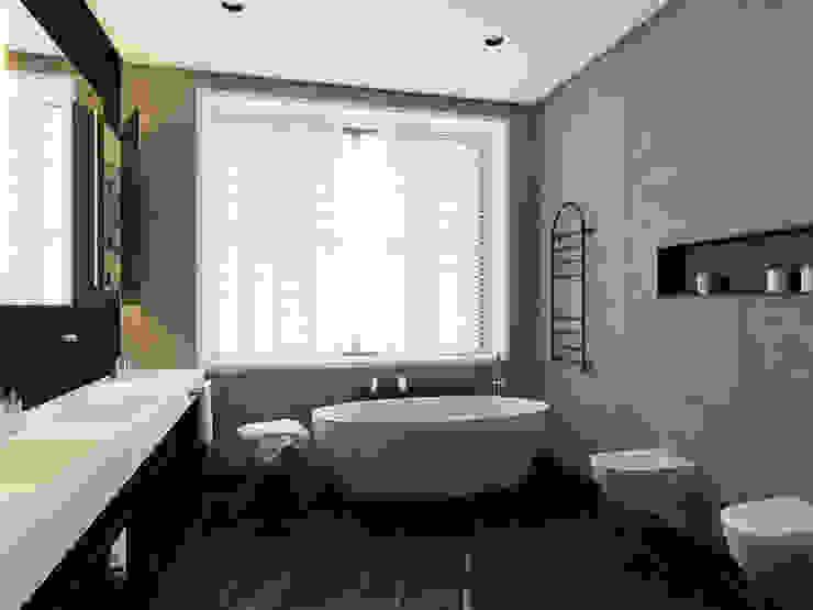 Дом в Москве, 600 кв.м: Ванные комнаты в . Автор – Валерия Лазарева - архитектор, дизайнер интерьера