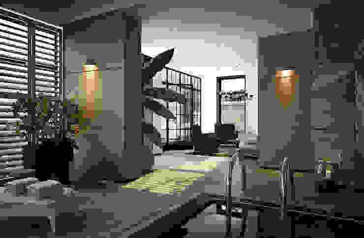 Дом в Москве, 600 кв.м Бассейн в стиле минимализм от Валерия Лазарева - архитектор, дизайнер интерьера Минимализм