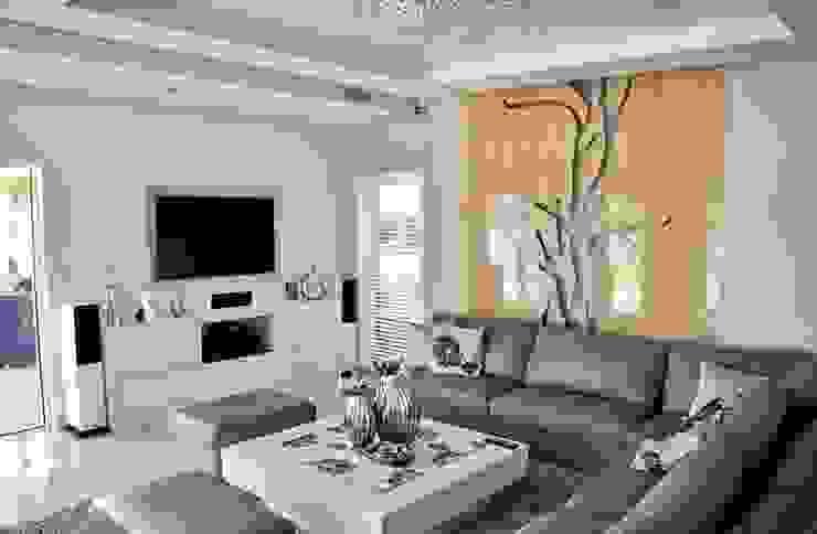 Living room by Abakon sp. z o.o. spółka komandytowa