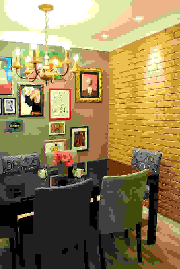 Sala tijolinhos Salas de jantar modernas por Red Studio Moderno