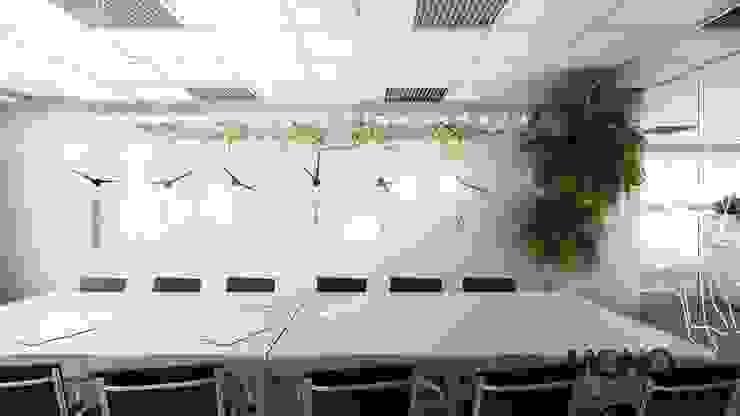 Nowoczesna stylizacja w przestronnym biurze od MONOstudio Nowoczesny