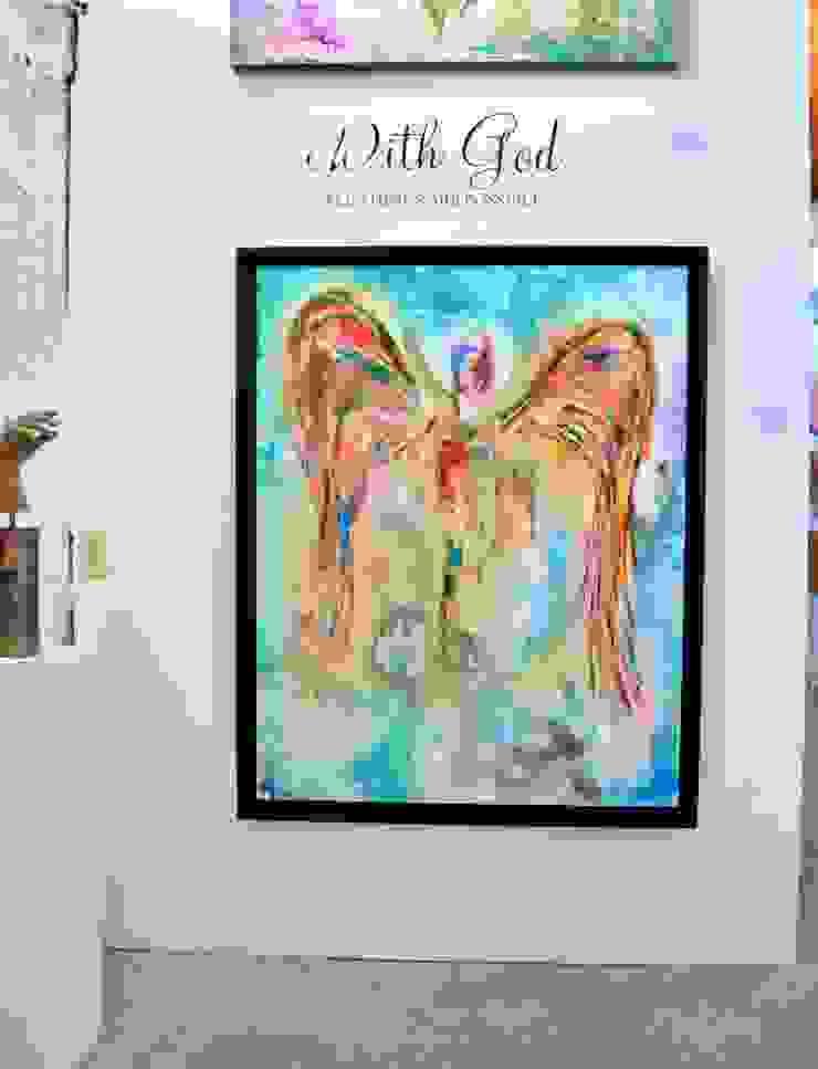 Obras de Ángeles Pasillos, vestíbulos y escaleras minimalistas de Galeria Ivan Guaderrama Minimalista