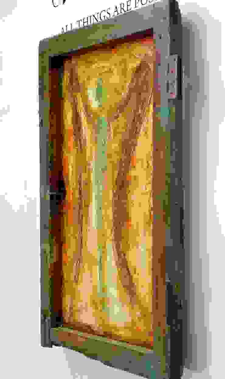 Obras de Ángeles Puertas y ventanas rústicas de Galeria Ivan Guaderrama Rústico
