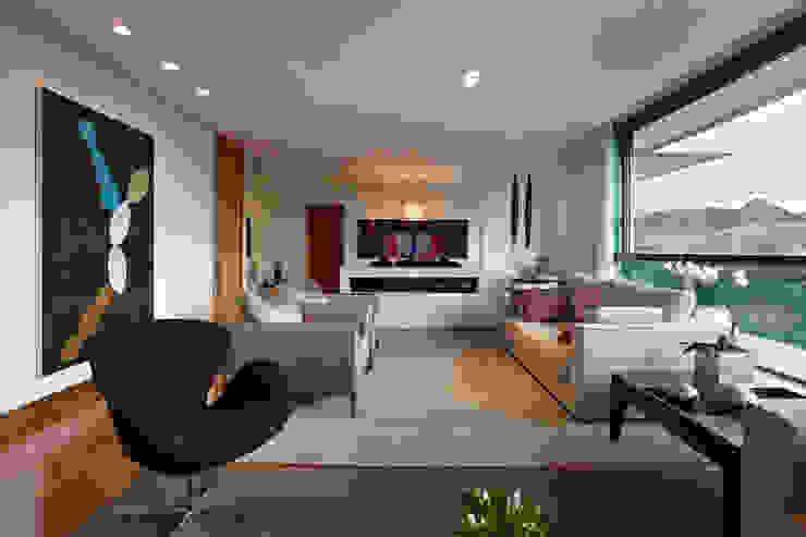 Sala de Estar Lage Caporali Arquitetas Associadas Salas de estar modernas