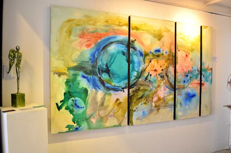 Obras Abstractas Pasillos, vestíbulos y escaleras minimalistas de Galeria Ivan Guaderrama Minimalista