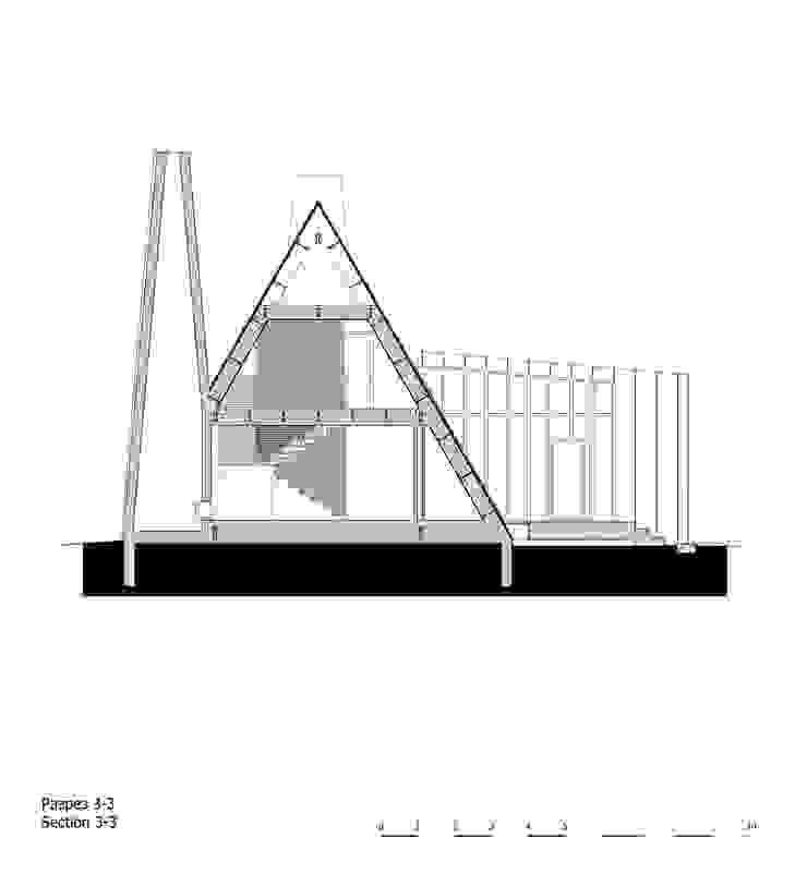 Треугольный Дом из концептуальной серии <q>Чеснок</q> от CHM architect Минимализм