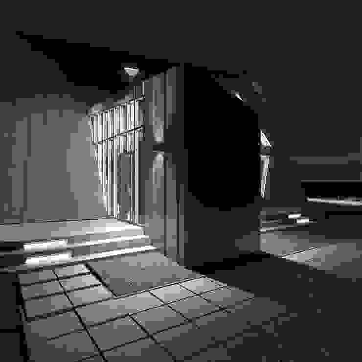 Треугольный Дом из концептуальной серии <q>Чеснок</q> Дома в стиле минимализм от CHM architect Минимализм