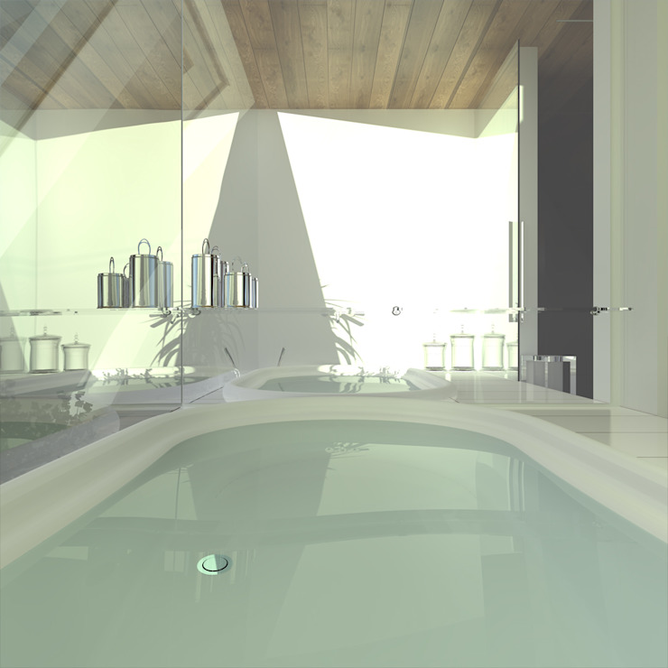 Треугольный Дом из концептуальной серии <q>Чеснок</q> Спа в стиле минимализм от CHM architect Минимализм