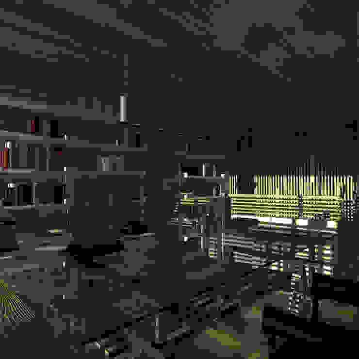 Треугольный Дом из концептуальной серии <q>Чеснок</q> Рабочий кабинет в стиле минимализм от CHM architect Минимализм