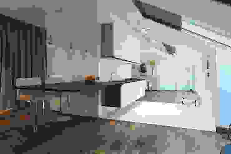 188.m.r Кухня в стиле минимализм от Проектная студия Вишнякова и Покровского Минимализм