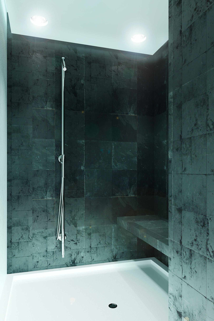 188.m.r Ванная комната в стиле минимализм от Проектная студия Вишнякова и Покровского Минимализм