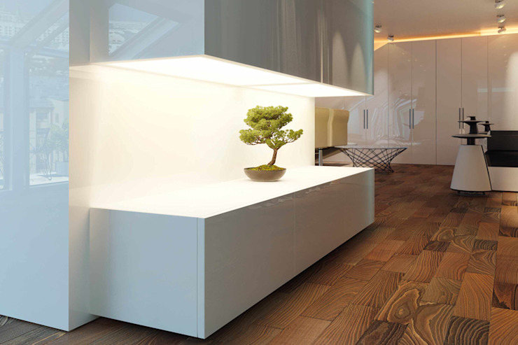 188.m.r Коридор, прихожая и лестница в стиле минимализм от Проектная студия Вишнякова и Покровского Минимализм