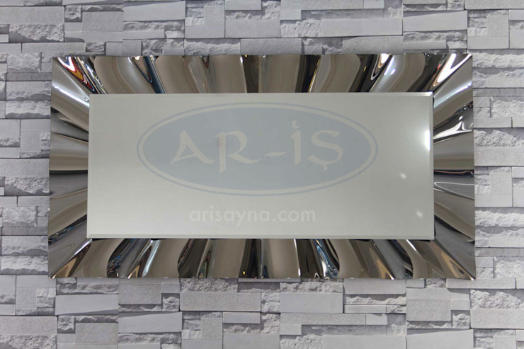 ARİŞ AYNA – Dikdörtgen Modern Dalgalı Ariş Ayna: modern tarz , Modern