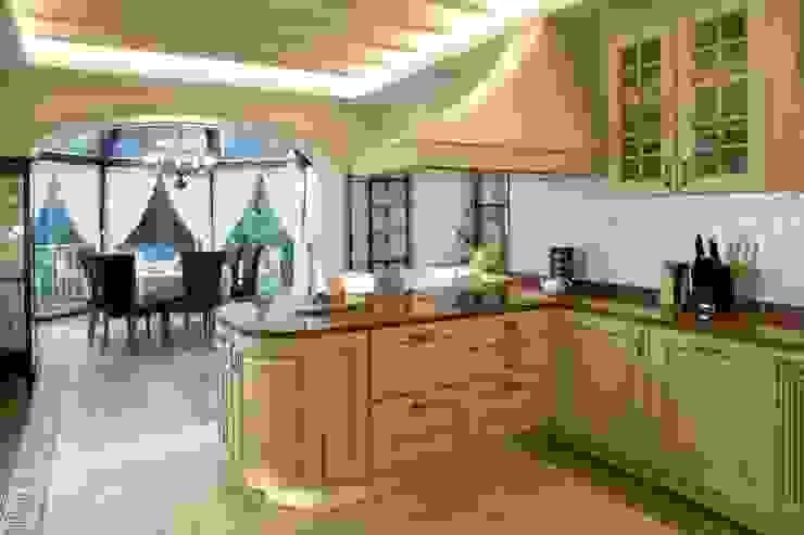 Жилой дом Кухня в классическом стиле от Студия дизайна Сергея Кривошеева Классический