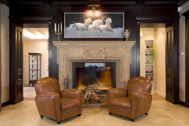 Жилой дом Гостиная в классическом стиле от Студия дизайна Сергея Кривошеева Классический