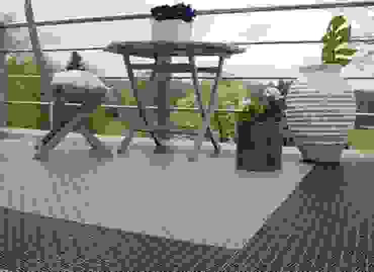 Bergo Briq balcony flooing 根據 Ecotile Flooring 北歐風
