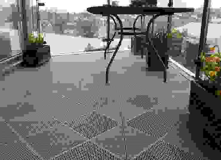 Bergo Unique tiles balcony floor by Ecotile Flooring Scandinavian