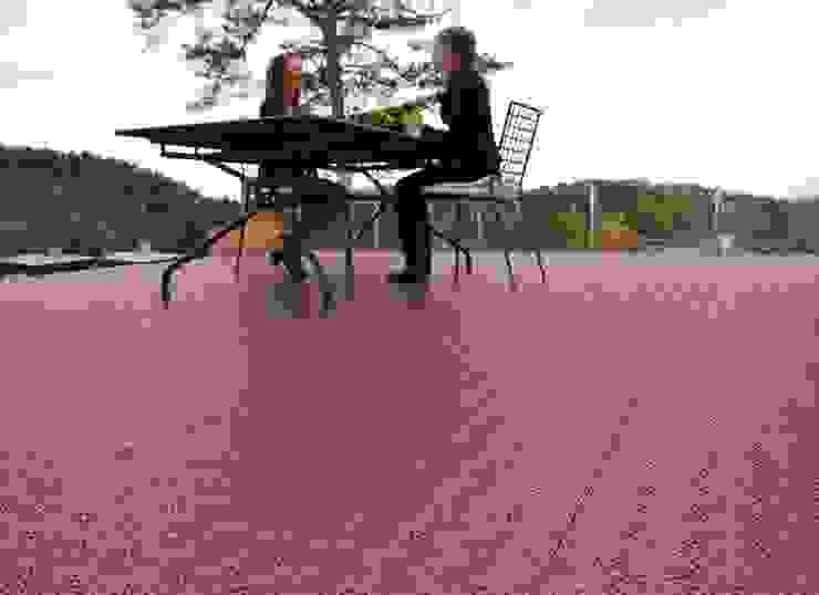 Bergo XL tiles on terrace Balcone, Veranda & Terrazza in stile scandinavo di Ecotile Flooring Scandinavo