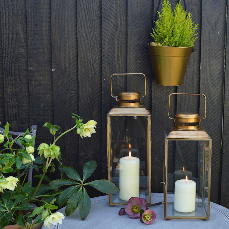 Brass Lanterns homify Garden Accessories & decoration