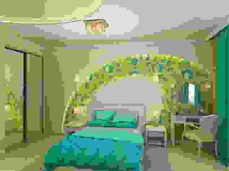 Квартира для молодой пары. Спальня в стиле модерн от Студия дизайна Elena-art Модерн