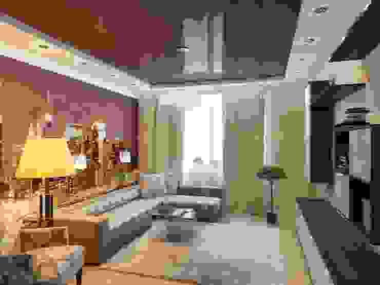 Квартира для молодой пары. Гостиная в стиле модерн от Студия дизайна Elena-art Модерн