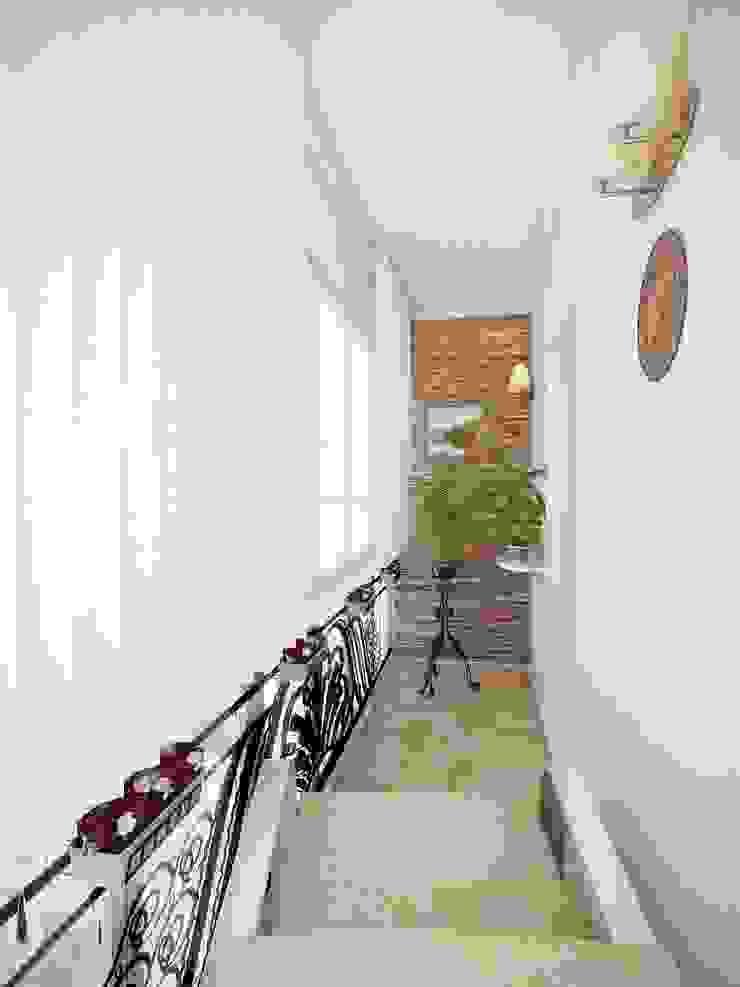 Квартира для молодой пары. Балкон и терраса в стиле модерн от Студия дизайна Elena-art Модерн