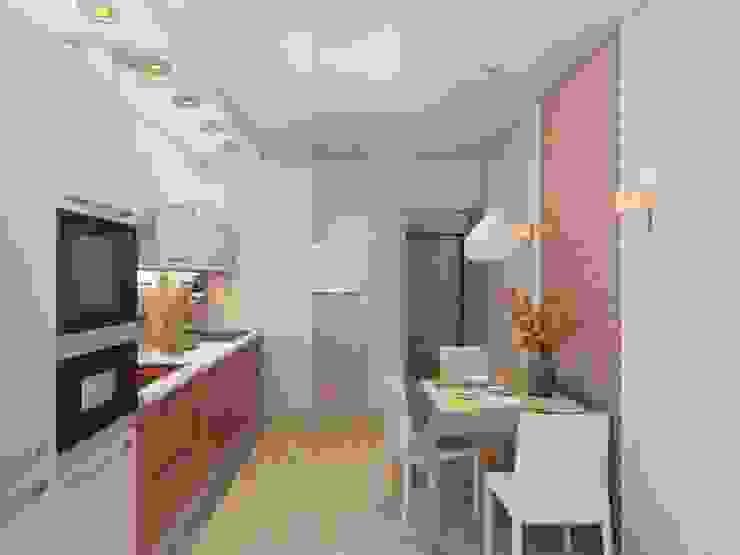 Квартира для молодой пары. Кухня в стиле модерн от Студия дизайна Elena-art Модерн