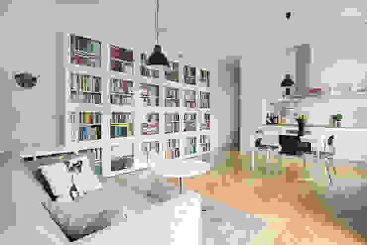 52m, Kamionek, Wwa Skandynawski salon od dziurdziaprojekt Skandynawski