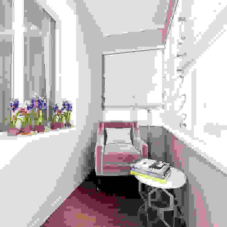 квартира на Гарибальди Балкон и терраса в классическом стиле от ООО 'Студио-ТА' Классический