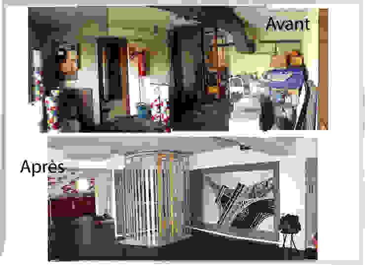 Entrée Couloir, entrée, escaliers industriels par X-ACT DESIGN Industriel