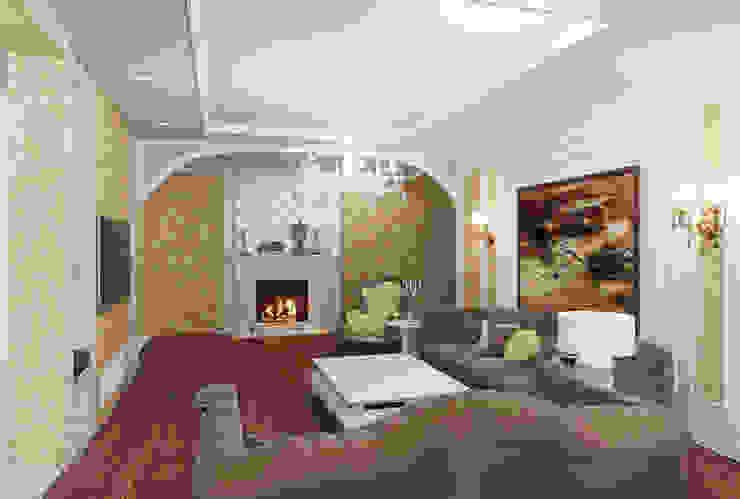 квартира на Гарибальди Гостиная в классическом стиле от ООО 'Студио-ТА' Классический