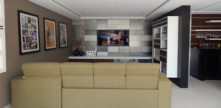 Casa La Rioja Salas multimedia modernas de STUDIO ALMEIDA DESIGN Moderno