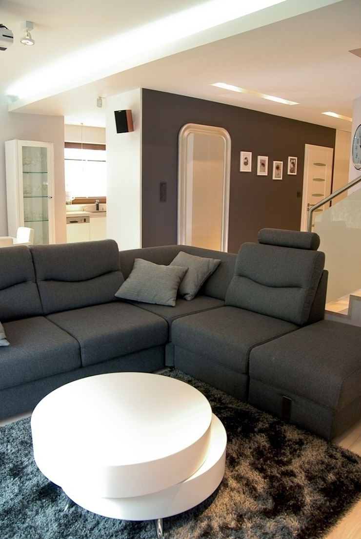 YNOX Architektura Wnętrz Moderne Wohnzimmer