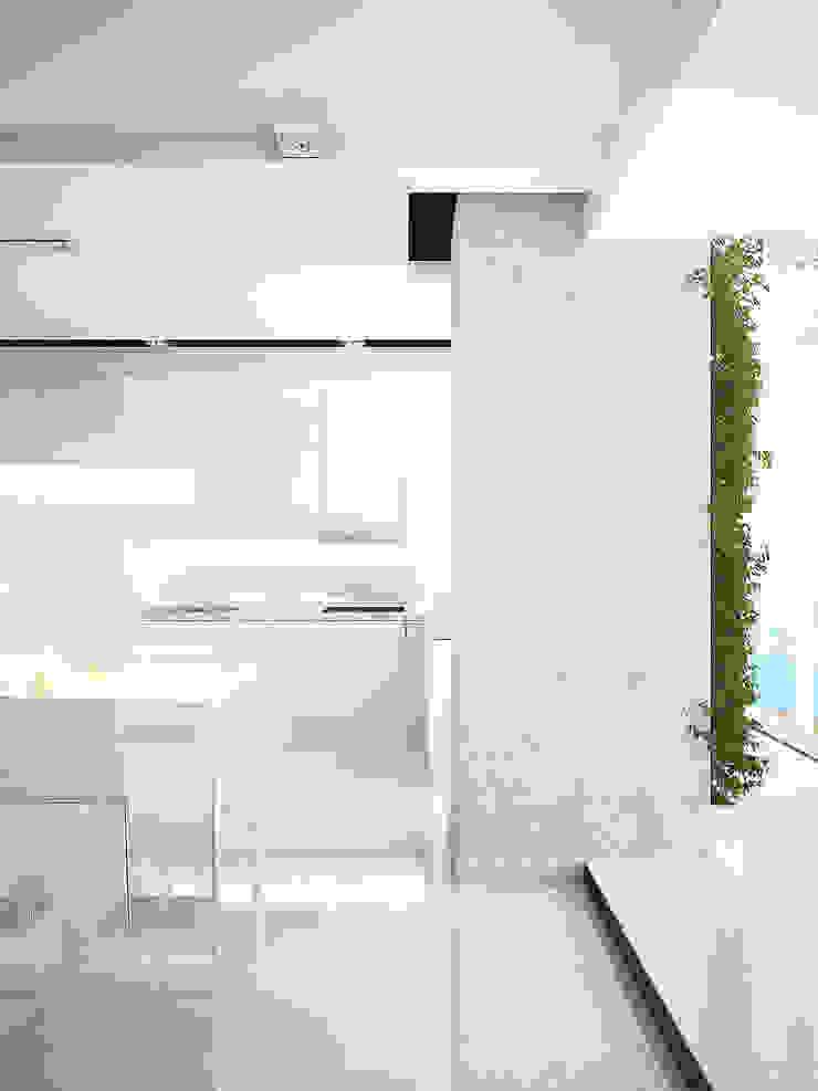 Квартира в ЖК Московский Кухня в стиле минимализм от Dmitriy Khanin Минимализм