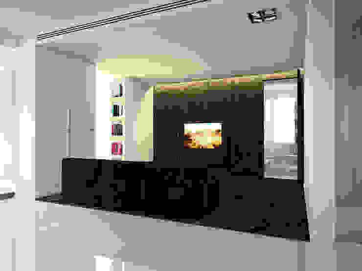 Квартира в ЖК Московский Гостиная в стиле минимализм от Dmitriy Khanin Минимализм