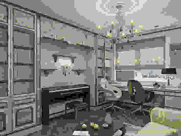Новое звучание Рабочий кабинет в эклектичном стиле от Premier Dekor Эклектичный