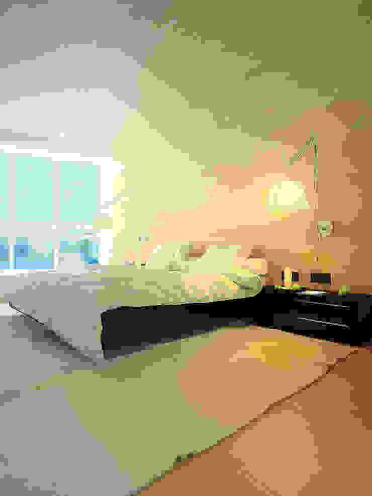 Квартира в ЖК Антарес. Екатеринбург. Спальня в стиле минимализм от Dmitriy Khanin Минимализм