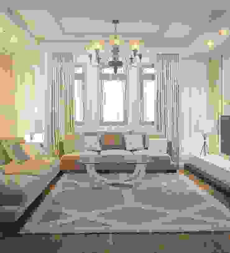 Private residence in Ekaterinburg Гостиная в классическом стиле от E_interior Классический