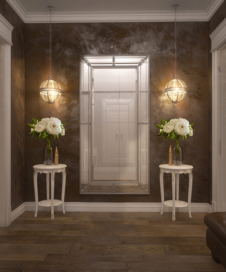Private residence in Ekaterinburg Коридор, прихожая и лестница в классическом стиле от E_interior Классический