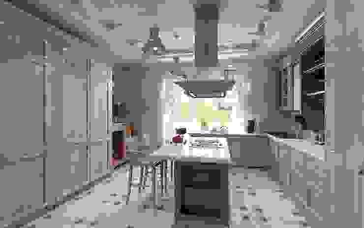 Уютный домик Кухня в стиле кантри от Студия дизайна Натали Хованской Кантри