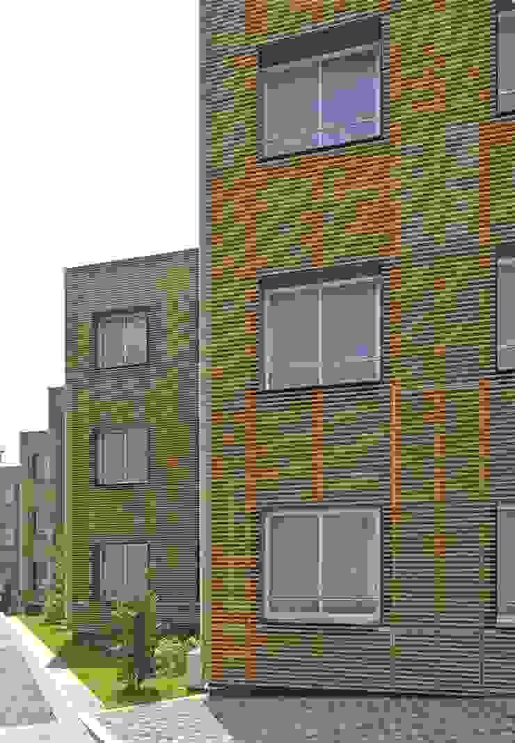 窓側の外壁 モダンな 家 の 株式会社ヨシダデザインワークショップ モダン